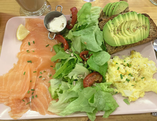 Assiette brunch La Bicyclette Rose - Blog Annecy, Restos & Cie