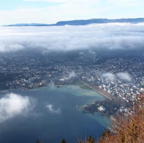 Annecy depuis le Mont Veyrier