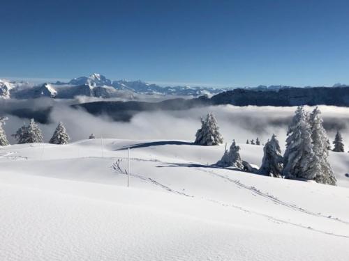 Mont blanc en vue